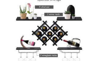 Giantex Set of 5 Wall Mount Wine Rack Set