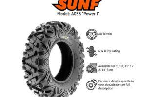 SunF 27x9-12 27x11-12 ATV UTV Tires 6 PR Tubeless A033 POWER I [Bundle]