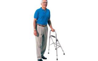 Carex Folding Hemi Walker - One Handed Walker for Seniors - Side Arm Style Walker