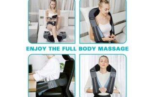 Shiatsu Back Neck Massager with Heat- PerkyPack Deep Tissue Kneading Massager for Neck Back Shoulder Foot Leg