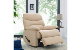 ProLounger Wall Hugger Recliner Chair in Khaki Microfiber