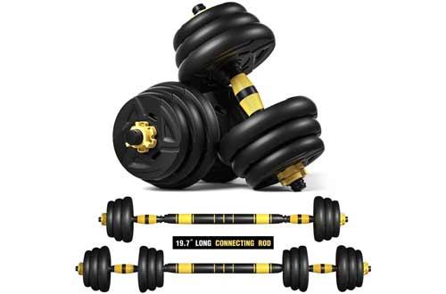 ER KANG Adjustable Fitness Dumbbells Set