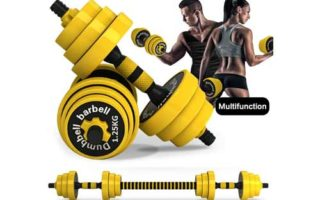 DDFE Adjustable Dumbbell Barbell Lifting Set 40.4lb New Dumbbell Barbell Set for Men,Women
