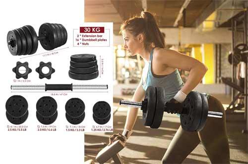 MOVTOTOP 66.14 LBS Adjustable Dumbbell Set, Multiple Dumbbell Weights Set for Men,Women