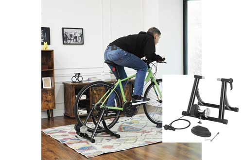 SONGMICS Indoor Bike Trainer Stand, Reduces Noise, Curvy Stable Frame USBT01B