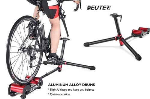 Deuter Bike Trainer Stand Resistance Adjustable - Portable Magnetic Bicycle Rollers Indoor