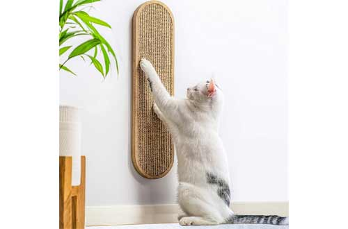 7 Ruby Road Cat Scratching Post for Floor or Wall Mounted Use - Space-Saving