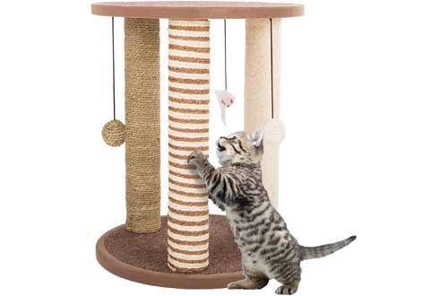 Cat Scratching Posts- Adult Cat and Kitten Tree, 3 Large Scratching Poles