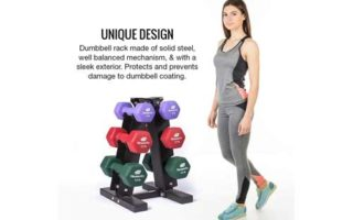 Fitness Alley Steel Dumbbell Rack - 3 Tier