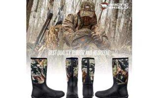 ArcticShield Men's Waterproof Durable Insulated Rubber Neoprene Outdoor Boots