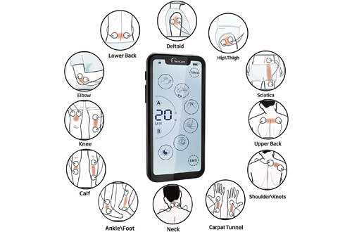 Tens Unit Muscle Stimulator 24 Massage Mode Tens EMS Machine Device Touchscreen