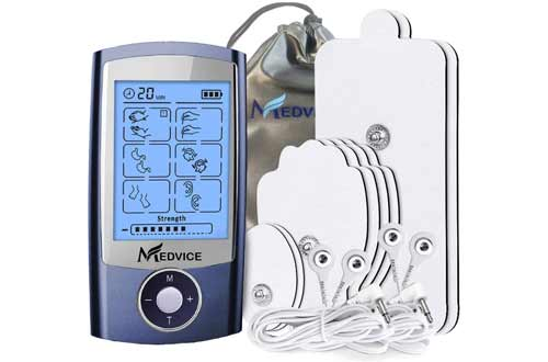 MEDVICE Rechargeable Tens Unit Muscle Stimulator, 2nd Gen 16 Modes & 8 Upgraded Pads