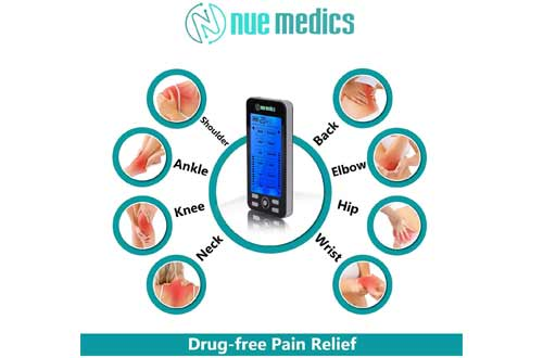 Tens Unit Machine Pulse Massager 24 Massage Modes Rechargeable Muscle Stimulator Device with 10 Pads