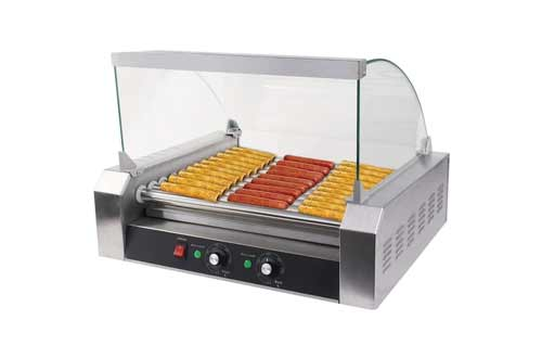 Safstar Commercial 30 Hot Dog 11 Roller Machine Stainless Steel Non Stick