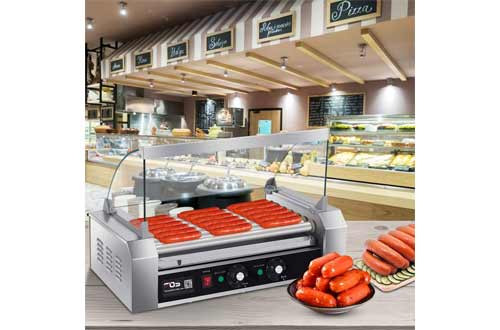 Happygrill Electric Sausage Grill, Stainless Steel Hot Dog Grill Cooker