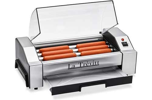 La Trevitt Hot Dog Roller- Sausage Grill Cooker Machine- 6 Hot Dog