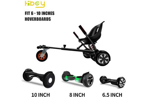 Hiboy HC-02 Hoverboard Go Kart with Rear Suspension Seat Attachment
