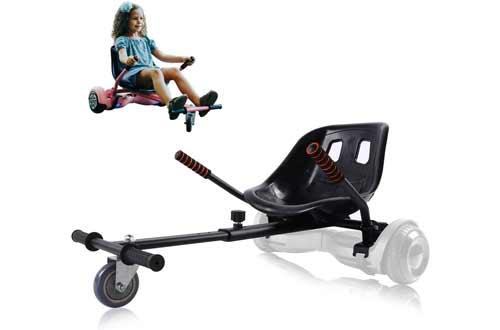 PRINIC Hoverboard Seat Attachment Go Kart Accessories Conversion Kit