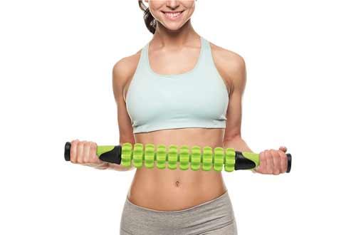 "Doeplex Muscle Roller Massage Stick for Athletes, 17.5"" Body Massager Soreness"