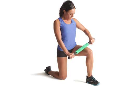 TheraBand Roller Massager +, Portable Muscle Rolling Stick with Retractable Handles