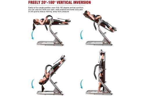 HARISON Heavy Duty Inversion Table for Back Pain Relief 350 LBS Capacity with 3D Memory Foam