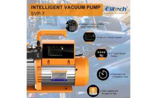 Elitech SVP-7 Vacuum Pump 7 CFM 2 Stage Intelligent HVAC Refrigerant Recharging