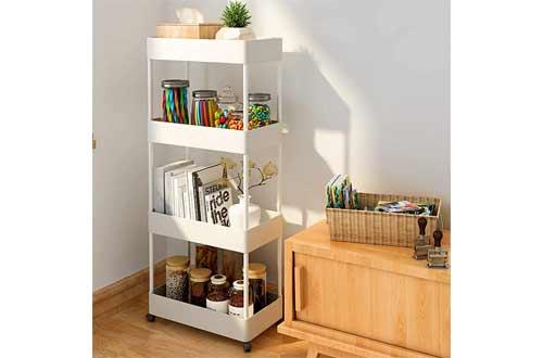Slim Storage Cart-4 Tier Narrow Storage Rack