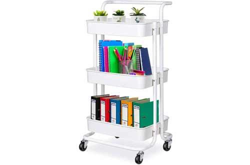 Happikids 3-Tier Rolling Utility Cart Storage Shelves Multifunction Organizer Carts