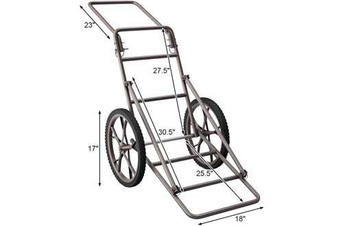 LDAILY Moccha 500lbs Capacity Folding Deer Game Hauler Cart with Big Wheels