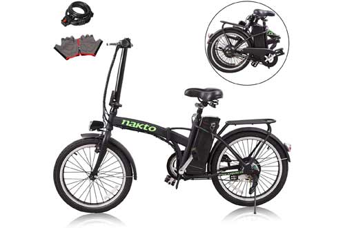 """nakto 20""""/26"""" 250W Foldaway/City Electric Bike Assisted Electric Bicycle Sport"""