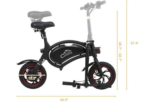 """PEXMOR Folding Electric Bike, 12"""" 350W 36V Bicycle with LCD"""