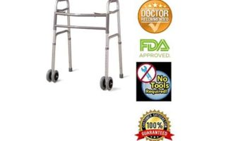 Bariatric Heavy-Duty Folding Walker with Wheels for Seniors, Adults, Extra Wide Front Wheel Walker