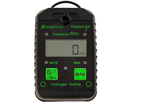 Sensorcon H2S Industrial Pro, Hydrogen Sulfide Detector, Adj. Alarm Points