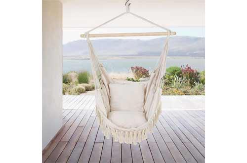 Patio Watcher Oversized Hammock Chair Hanging Rope Swing Seat