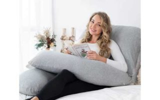 AngQi Full Body Pregnancy Pillow, U Shaped Maternity Pillow for Back Pain Relief and Pregnant Women