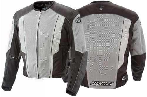 Joe Rocket Phoenix 5.0 Men's Mesh Motorcycle Riding Jacket (Gray/Black, Medium)