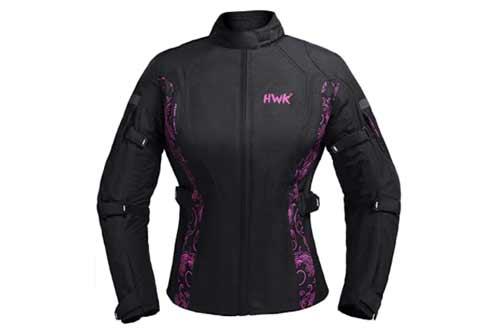 HWK Women's Motorcycle Jacket For Women Rain Waterproof Biker Moto Riding Ladies Motorbike Jackets CE ARMORED