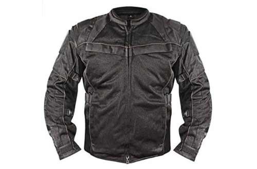 Xelement XS8160 Men's 'All Season Shadow' Black Tri-Tex and Mesh Jacket with X-Armor Protection