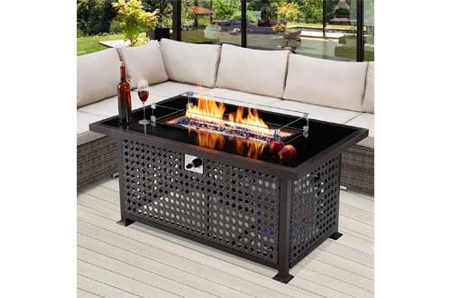 U-MAX 52 Inch Outdoor Propane Gas Fire Pit Table