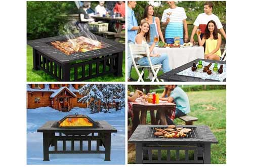 """HEMBOR 32"""" Outdoor Fire Pit Table"""