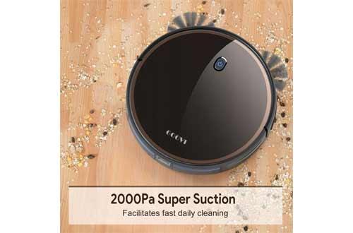 GOOVI Robot Vacuum, 2000Pa Robotic Vacuum Cleaner (Slim) Max Suction